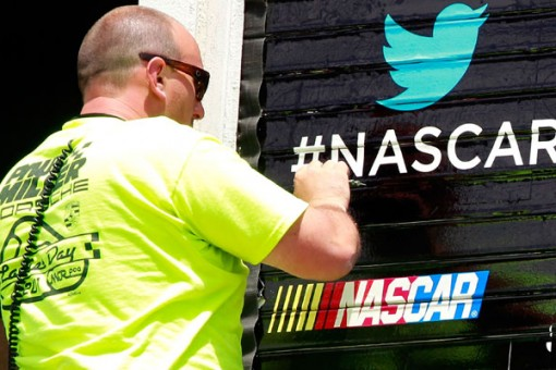 Nascar using Twitter to generate buzz about a race.