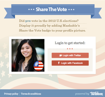 Mashable's 'Share the Vote'
